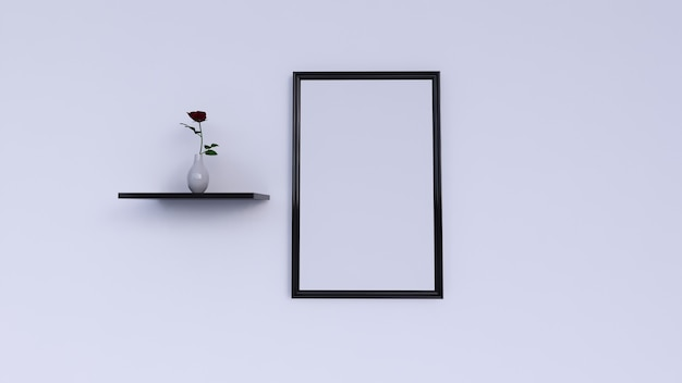 Blank photo frame, wall decoration