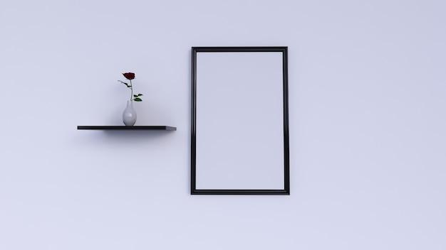 Пустая фоторамка, украшение стен