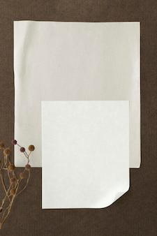 Пустой шаблон простой белой бумаги