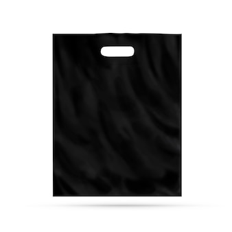 Blank plastic bag  isolated