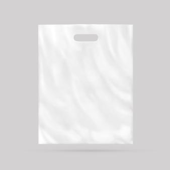 分離された空白のビニール袋
