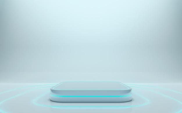 제품에 대한 빈 연단. 3d 렌더링-래스터 클립 아트