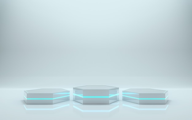 Blank podium for product. 3d rendering - illustration