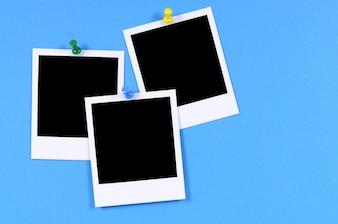 Blank polaroid style photo prints