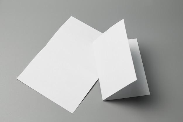 Blank portrait a4. brochure magazine isolated on gray