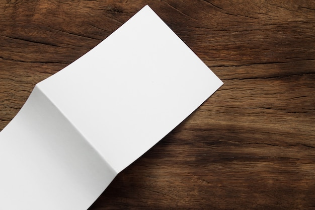 Blank portrait mock-up paper