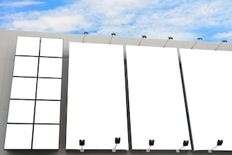 Blank poster billboard wall