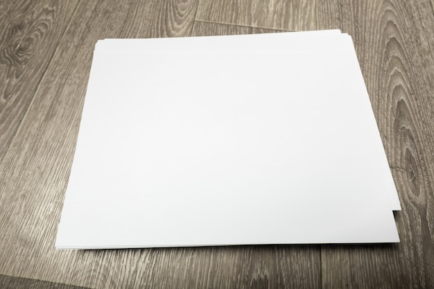 Blank  poster on wood to replace your design