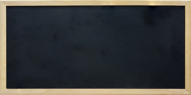 Blank rectangle blackboard with wooden frame, copy space