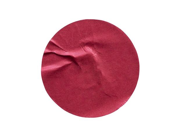 빈 빨간색 라운드 접착 종이 스티커 라벨 흰색 배경에 고립
