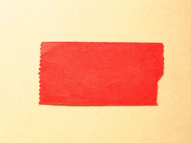 空白の赤いタグラベル