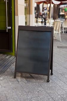 Blank restaurant sign