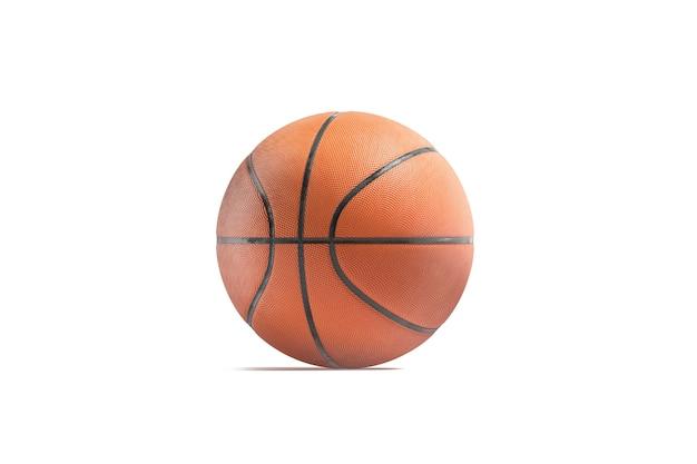 分離された競争力のあるモックアップのための空白のゴム製バスケットボールボールモックアップ空の演奏テクスチャ球
