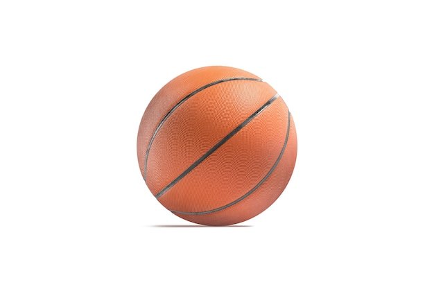 Blank rubber basketball ball mockup empty textured round basketball for dribbling point mock up