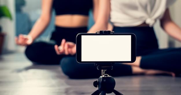 Blank screen of smartphone