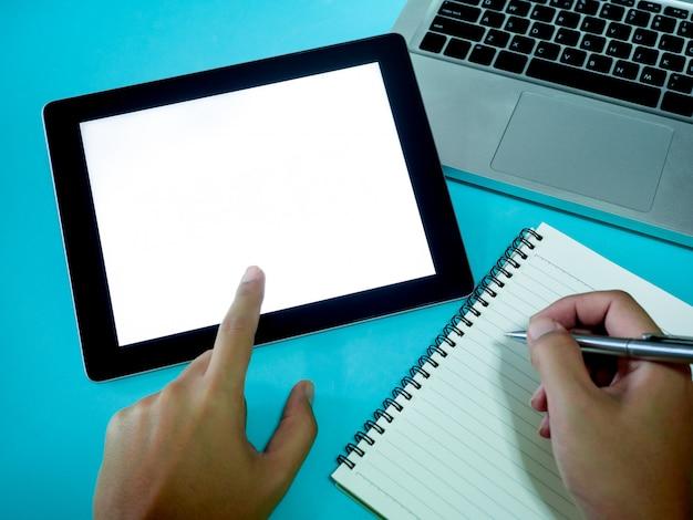 Blank screen tablet.