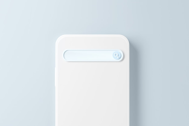 携帯電話の空白の検索エンジン バー