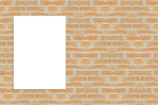 Blank sheet on brick wall