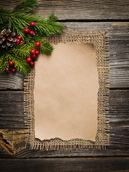 Blank sheet for new year's greetings