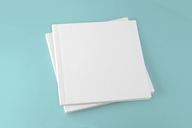 Blank square cover book template