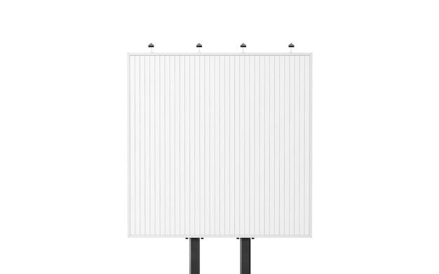 Blank square white trivision billboard