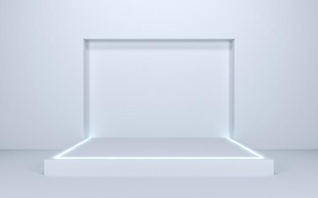表示用の空白のステージ、3dレンダリング