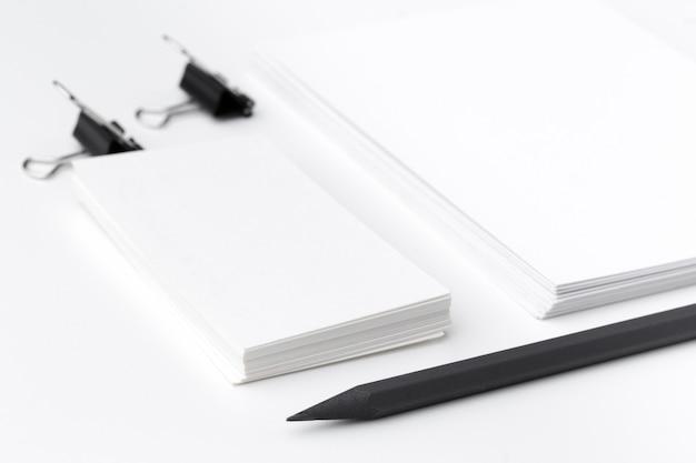 빈 편지지 / 비즈니스 브랜딩 흰색 절연