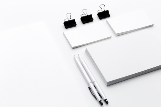Blank stationery/business  branding isolated on white