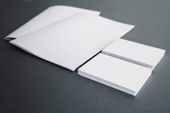 Blank stationery elements