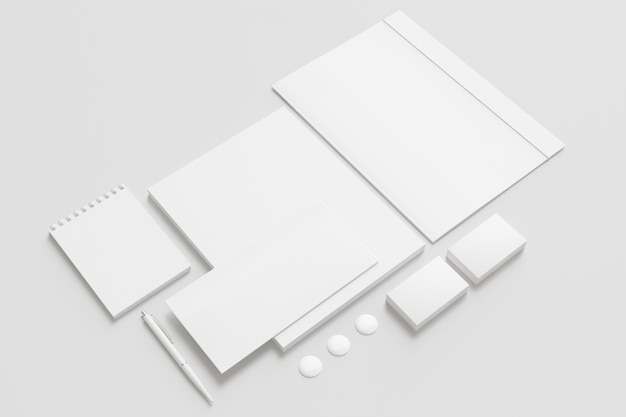 Blank stationery set.