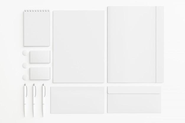 Blank stationery set.