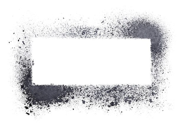 Blank stencil frame isolated on the white background