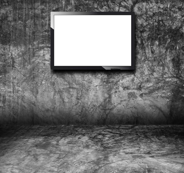 벽에 빈 거리 광고 빌보드