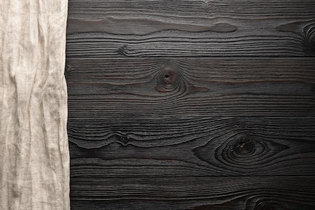 Пустой раздели фон с видом сверху грубой ткани