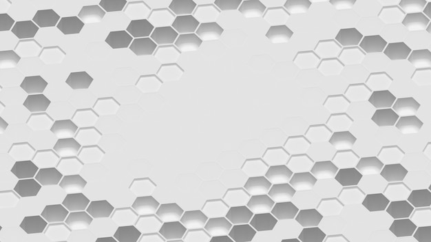 3d形状に囲まれた空白の表面