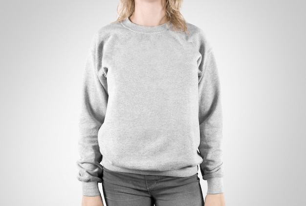 Blank sweatshirt  isolated, female wear plain hoodie