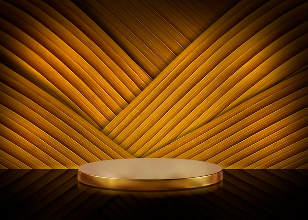 Blank of table on gold background