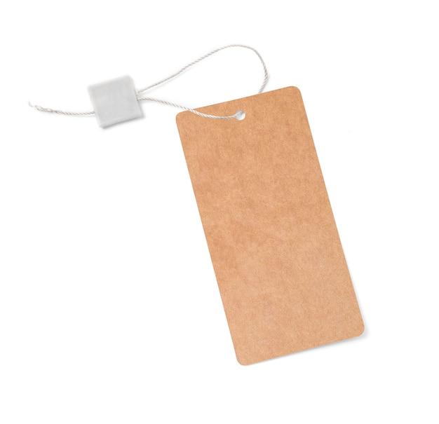 文字列で結ばれた空白のタグ。値札、ギフトタグ、セールタグ、住所ラベル