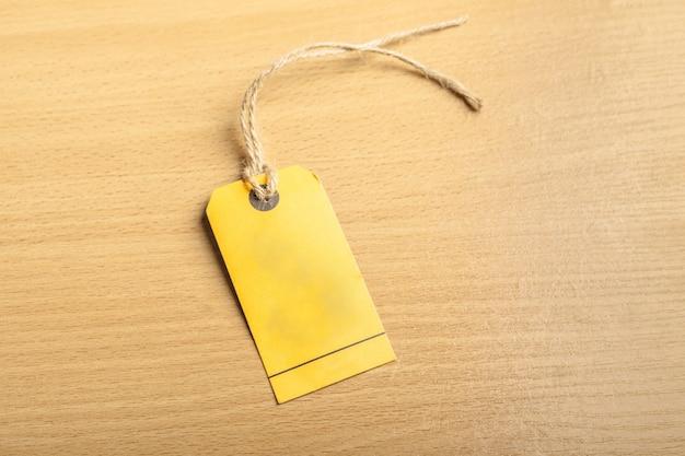 Blank tag on wood