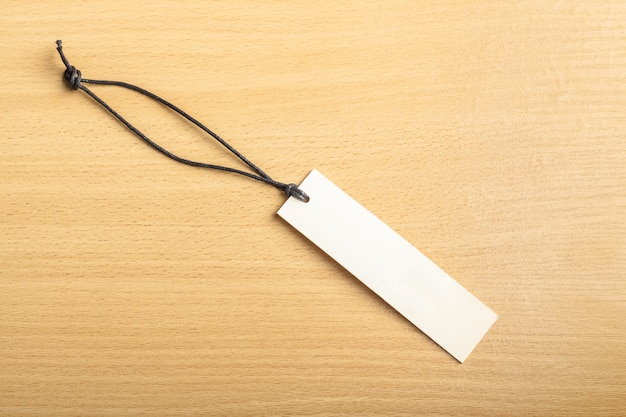 Blank tag on wooden