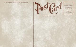 Blank vintage postcard   grunge edition  free