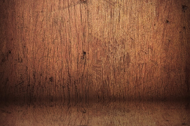 Blank vintage studio made from wooden shelf.