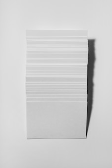 Blank visiting cards composition