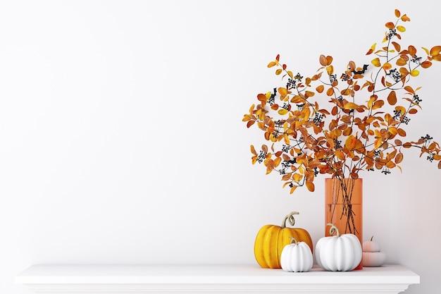 Осенний макет стены