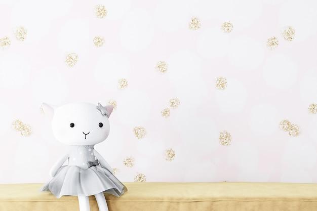 귀하의 제품에 대한 빈 벽 모형 어린이