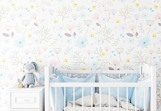 Blank wall nursery mockup