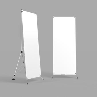 空白の白い3dレンダリングイラスト