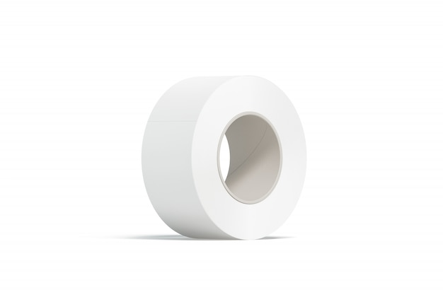 Blank white adhesive tape, isolated