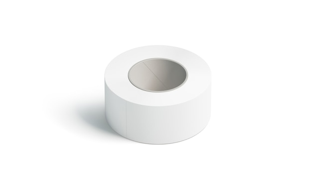 Blank white adhesive tape , lying isolated,