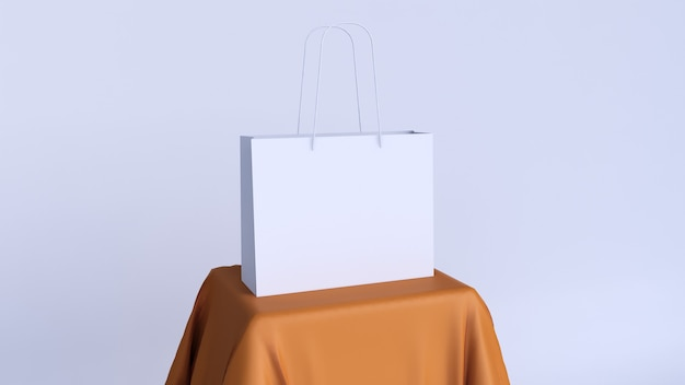 Blank white bag for mockup product